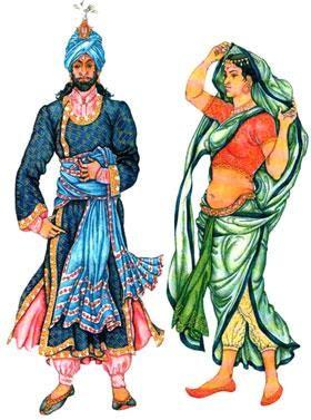 Костюм индии краски