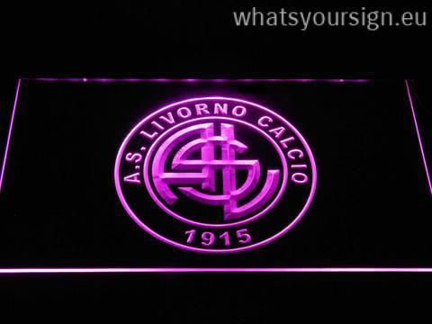 A.S. Livorno Calcio - LED neon sign made of the best-quality clear plastic and glowing colorful lighting. The neon sign displays exactly the same from all angles thanks to the carving with the latest 3D laser engraving technology. This LED neon sign is a great gift idea! The neon is provided with a metal chain for displaying. Available in 3 sizes in following colours: Yellow, Green, Blue, Orange, White, Purple and Red!