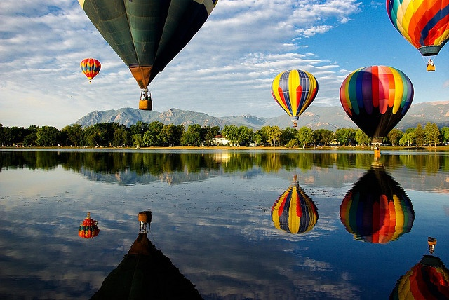 Cheyenne Mountain and Balloons by zyrcster, via Flickr