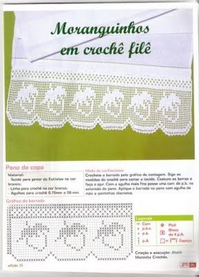 srawberries filetDiy Gb, Inspiration Crochet Diy, Crochet Edging, Da Dry, Srawberry Filet, Coisinhas Da, Crochet Tricot, Croché Barra, Crochet Dolly