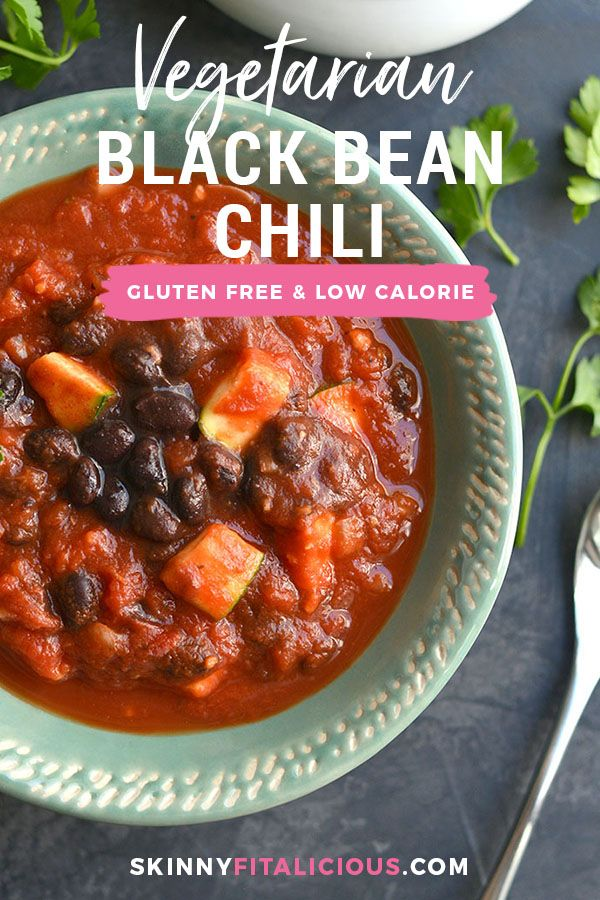 Slow Cooker Black Bean Chili! This vegan chili is full of zucchini & beans with …