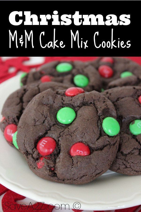 Check out our great recipe for our Christmas M&M Cake Mix Cookies! If you are looking for some great christmas sweets then you can look no further!