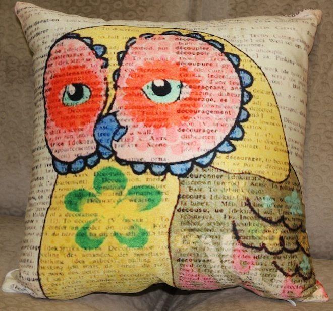Multi-coloured hipster owl cushion. #Cushion | #Owl | #Sale | #PhilBee | #Decor | #Melbourne | #Interiors | #InteriorDecorator | #Cushions | #OwlCushion