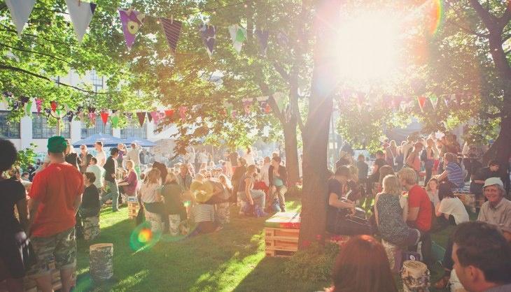 Backyard at Flow 2011.