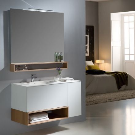 meuble salle de bain 110 cm 2 tiroirs 1 porte boxy salle de bain pinterest. Black Bedroom Furniture Sets. Home Design Ideas
