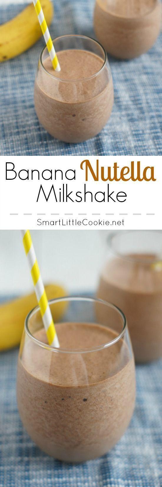 Banana Nutella Milkshake   SmartLittleCookie