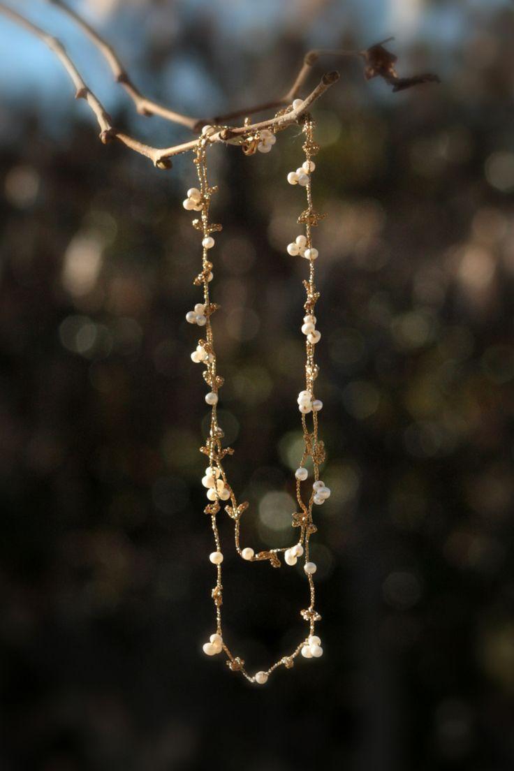 Collar barroco crochet - Crochet necklace - Suka for www.dooc.eu