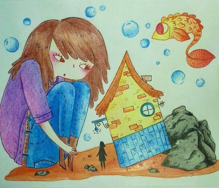 "21 Me gusta, 1 comentarios - Ñaña (@ferniska) en Instagram: ""oohh o:  #doodle #illustratedgirl #illustration #ilustradoraschilenas #ilustradoreslatinoamericanos…"""