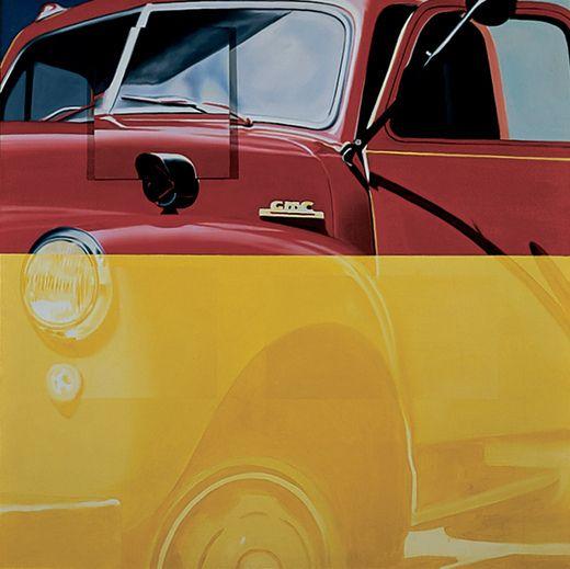 James Rosenquist, Broome Street Trucks After Herman Melville, 1963