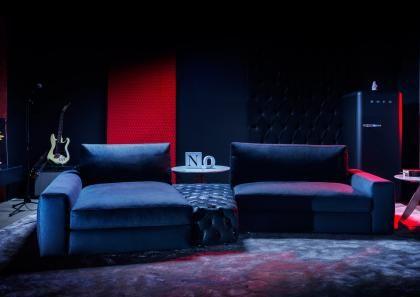 #BERTOLIVE | Divano Componibile in Denim - Berto Salotti