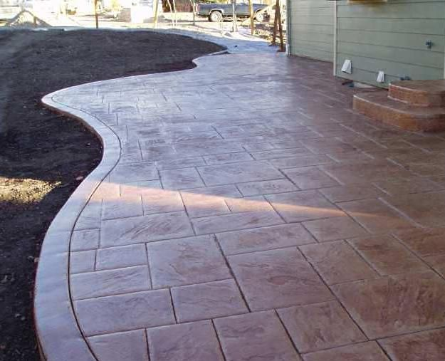Stamped Concrete Under Deck Patio For All Your Concrete