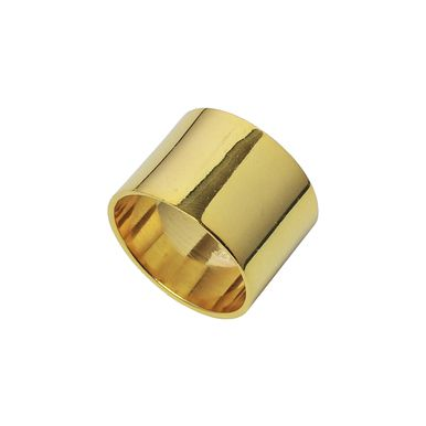 | Simple plain cuff ring - in gold vermeil (heavy plated) over sterling silver | #plainring #sterlingsilverring #goldring www.pinchandfold.com
