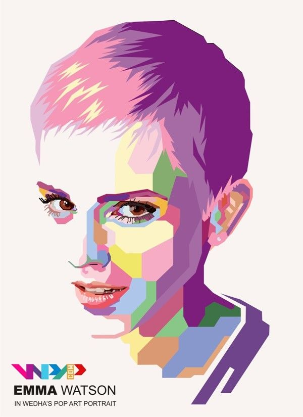 WPAP (Wedha's Pop Art Portrait) by Widi kurniawan, via Behance