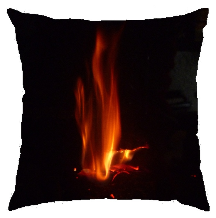 """"""" Coussin feu de cheminée """" Coussin 40x40cm"""