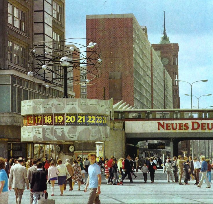Alexanderplatz East Berlin 1970's