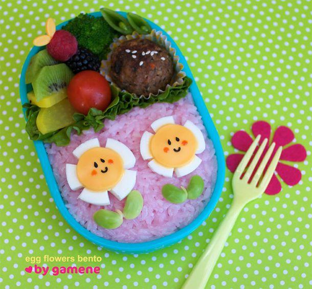 10 Beautiful Bento: Bento Boxes, Flowers Bento, Bento Ideas, Boxes Ideas, Boiled Eggs, Lunches Boxes, Bentoasian Food, Eggs Flowers, Bentobox