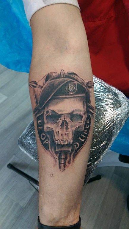 army skull lebka vojenske armadni tetovani hradeckralove tattooclub 022