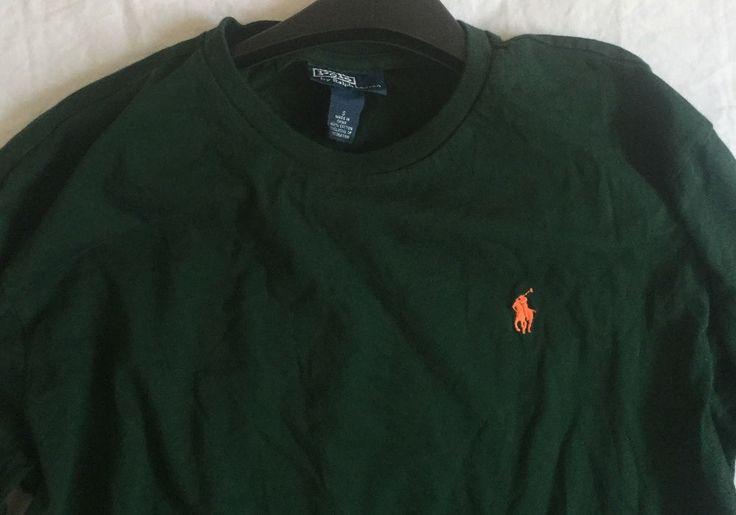Polo Ralph Lauren Mens Long Sleeve T-Shirt Green Sz Small #PoloRalphLauren #PoloRugby