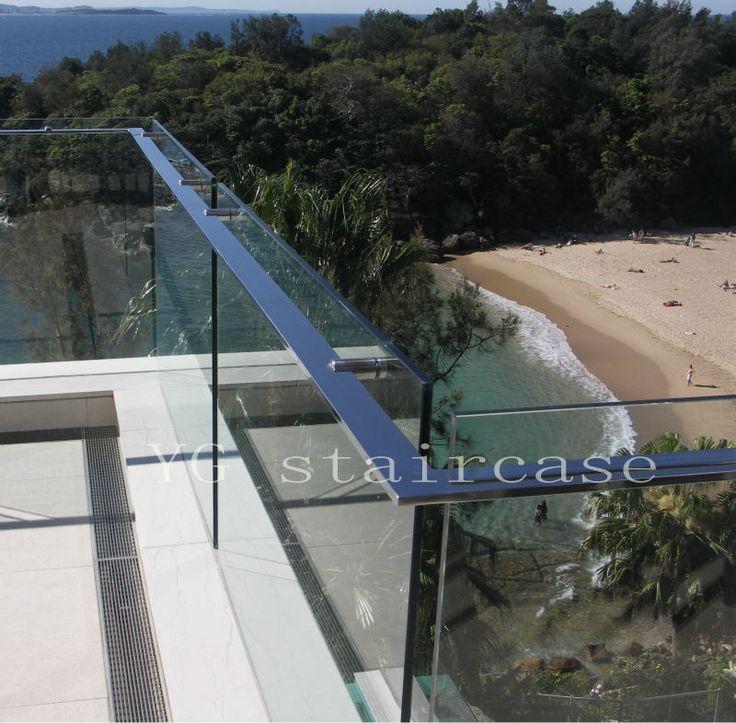 Stainless steel glass balcony balustrade