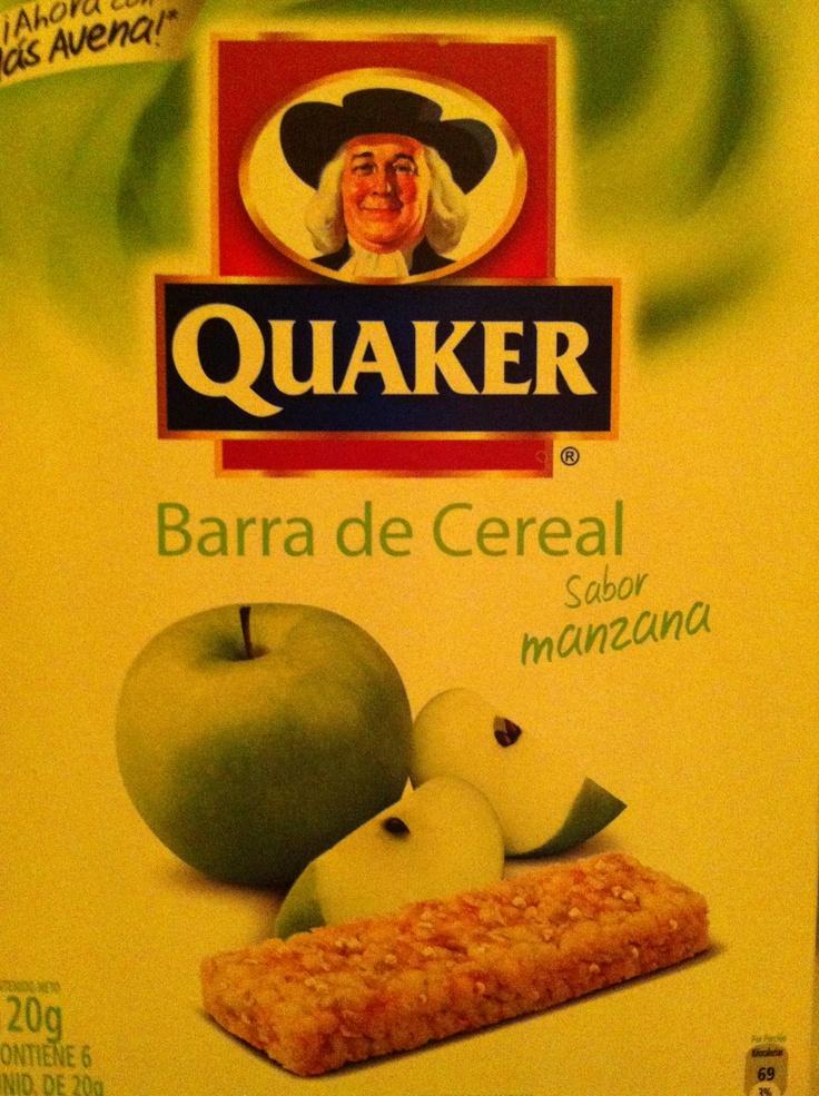 Barras de cereal sabor manzana