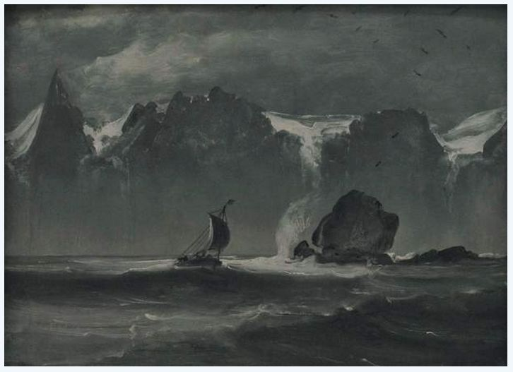 The Boat 'Ottring' beneath the Seven Sisters Mountain, 1847