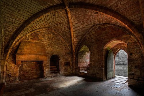 Medieval Room with a beautiful vaulted ceiling. Photo by Simon Mayson