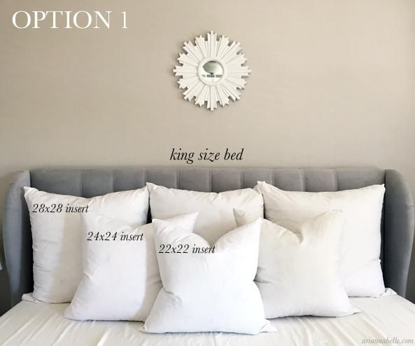 Pillow Size Guide for King Beds – Arianna Belle  Bed pillow sizes