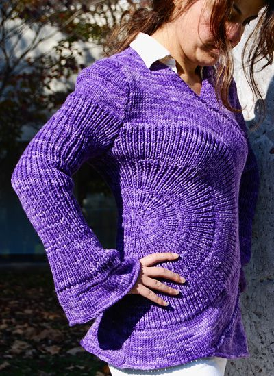 Knitty : Spoke sweater - Knitty: Winter 2009 Knitting and Yarn Pinterest