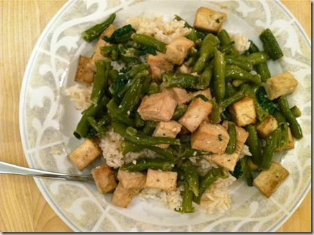 Sauted Green beans with tofu & lots of other recipes.