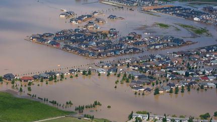 Town of High River - hit the hardest.