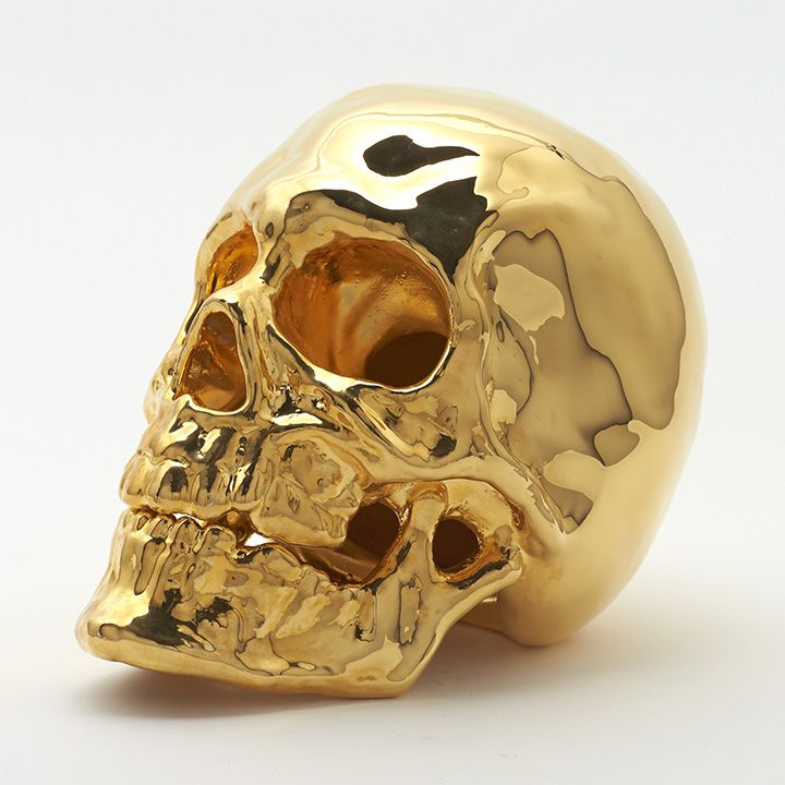 Artintheageof Shop 24k Gold Skull DecorSkull