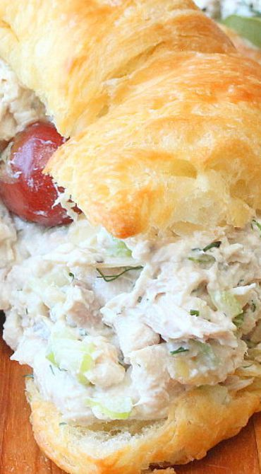 Best-Ever Chicken Salad ~ Incredible! Use rotisserie chicken for a total fuss…