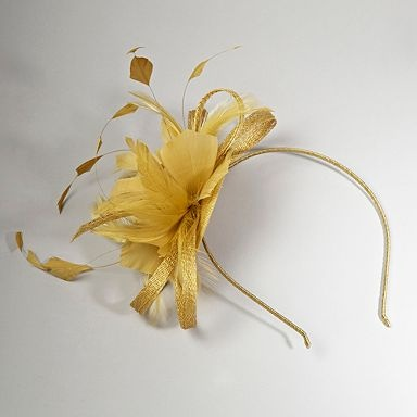 Gold feather hair piece - Fascinators - Hats & fascinators - Women -