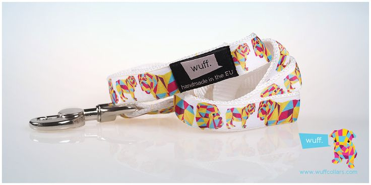 English Bulldog Dog Leash White This leash features a sturdy heavy-duty snap hook and strong stitching, so that you can be sure it will bear your bulldog's power! Item Code: 112 http://www.wuffcollars.com/en/item/English_Bulldog_Leash-112