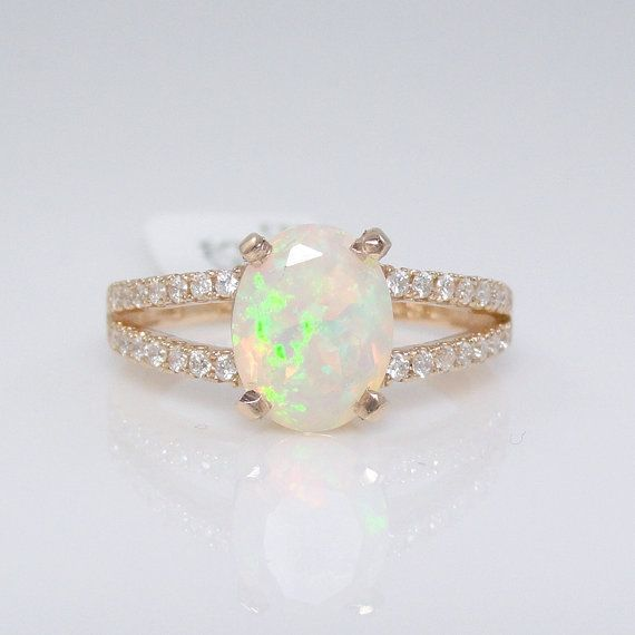 Hey, I found this really awesome Etsy listing at https://www.etsy.com/listing/193200754/sale-natural-blue-opal-diamond-ring-in