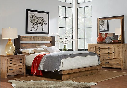 picture of Asher Driftwood 5 Pc King Bedroom  from King Bedroom Sets Furniture