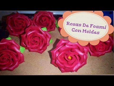 Rosas moldes de flores para hacer arreglos florales en fomi goma eva hd youtube - Flores sencillas de goma eva ...