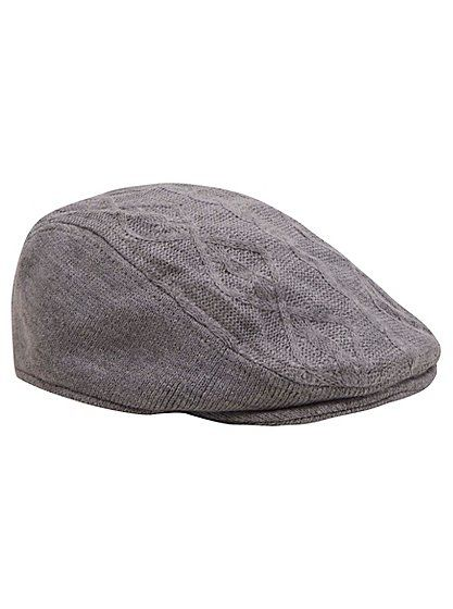 Cable Knit Flat Cap, read reviews and buy online at George at ASDA. Shop from our latest range in Baby. In a classic cable knit and light grey hue, this flat...