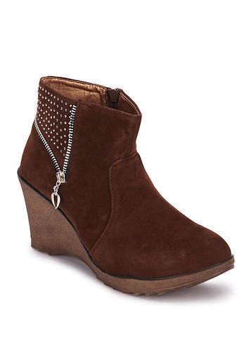 MB Collection - Ankle-Length Brown Boots
