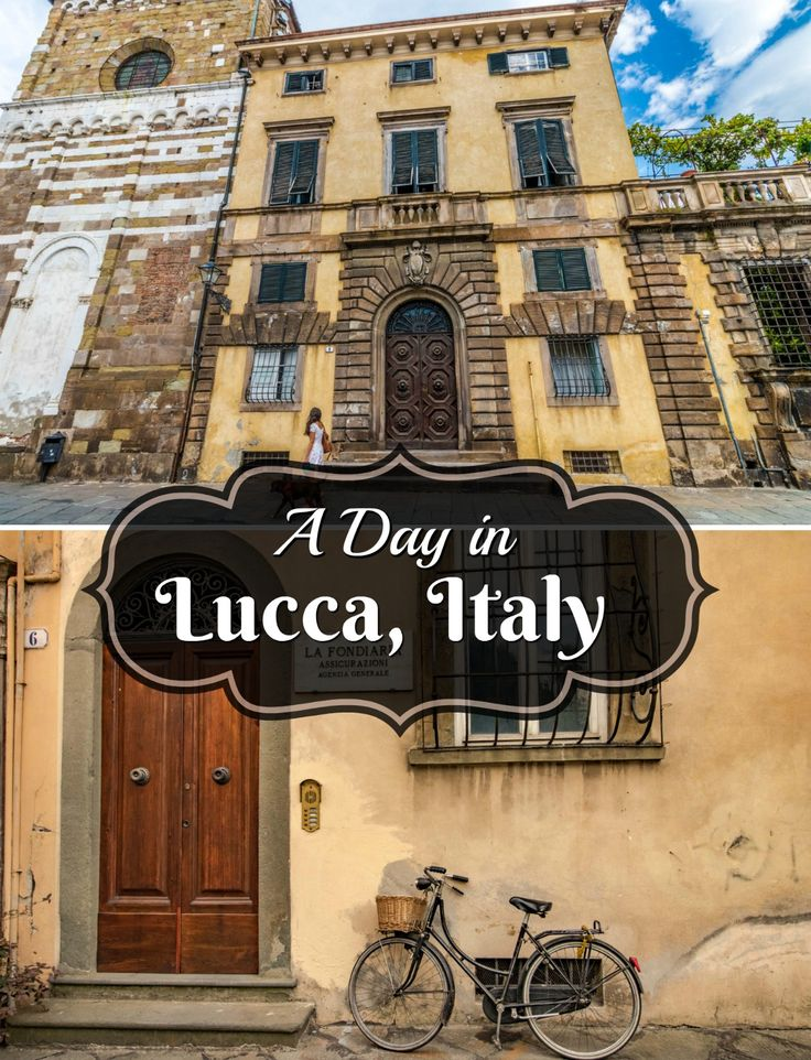 Escape the crowds of Florence and step back in time  in lovely Lucca, Tuscany.   The city is surrounded by a 16th century wall and is home to over 100 churches!