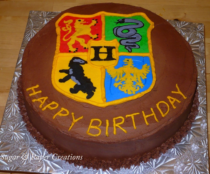 Hogwarts Crest Birthday Cake Harry Potter Pinterest