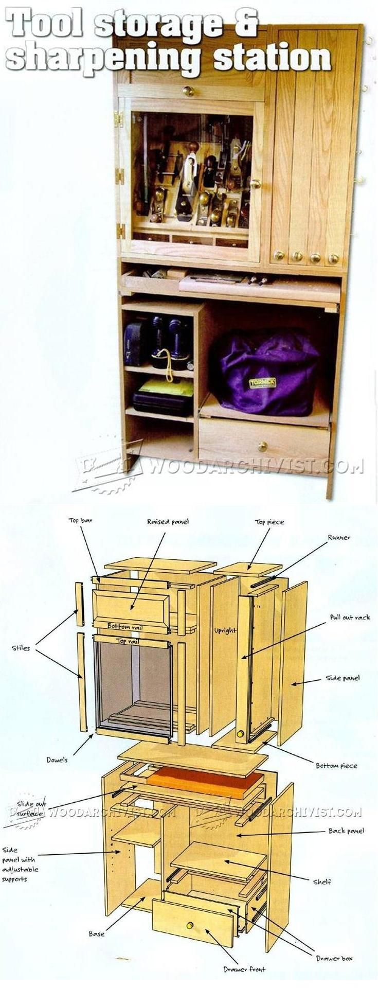 Tool Storage and Sharpening Station Plans - Workshop Solutions Projects, Tips and Tricks | WoodArchivist.com