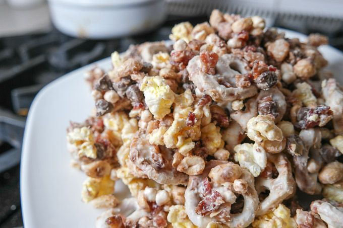 ... maple bacon doubles that delight see more 2 maple bacon party mix