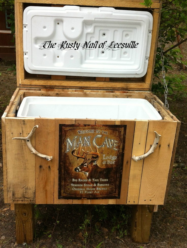 Rustic Man Cave Images : Rustic man cave cooler by the rusty nail of leesville