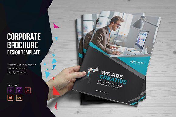Corporate Brochure Design by Miyaji75 on @creativemarket