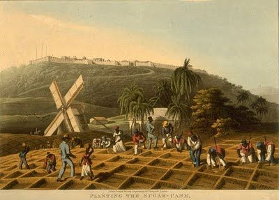 """Planting the Sugar Cane, Antigua"" by William Clark (1823) -Most British attitudes about Africa were shaped by their experience with the slave trade. The British first became involved in the trade in the 16th century and became major players by the 18th century. Most merchant seaman had seen slaves at some time in their career and in the late 18th century the abolition movement began to introduce Africans and their land to a wider audience in Great Britain. The anti-slavery movement scored…"