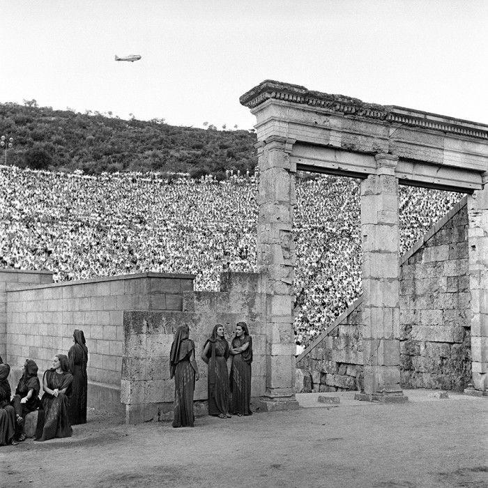 Δημήτριος Χαρισιάδης, θέατρο Επιδαύρου, 1955