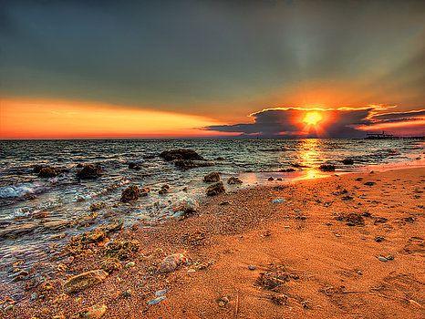 Nadia Sanowar - Beach Sunset