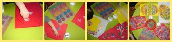 colorare le uova con riso colorato