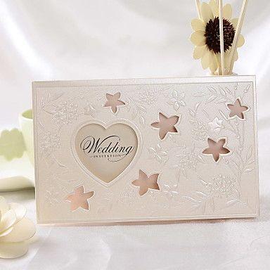 Vintage Floral Preget Cut-out bryllup invitasjon (sett av 50) – NOK kr. 397